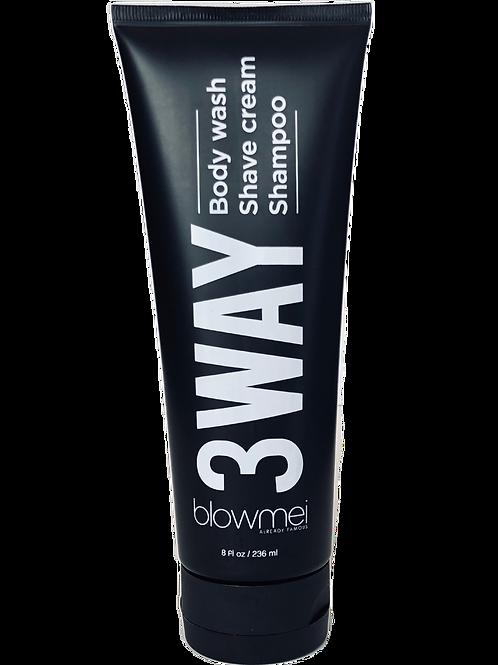 THREEWAY shampoo + body wash + shave cream