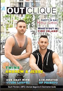 Outclique magazine cover July 2017