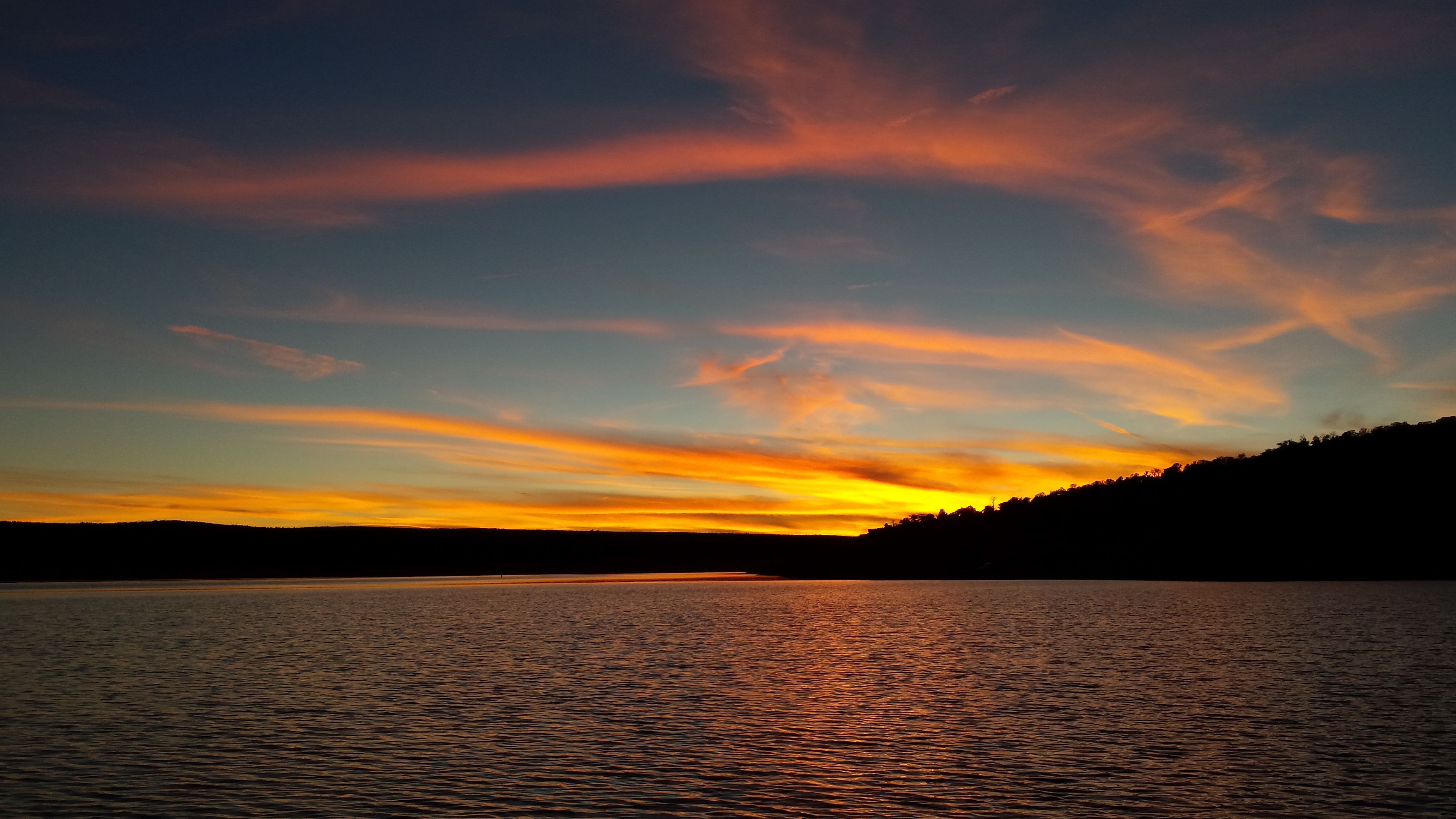 Bluewater Lake at sunset