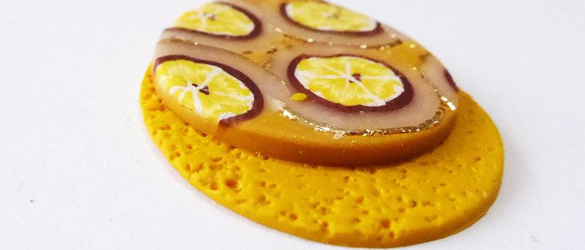 תליון טיפה בצהוב לימון