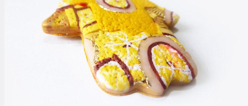 שרשרת חמסה גוון צהוב לימון