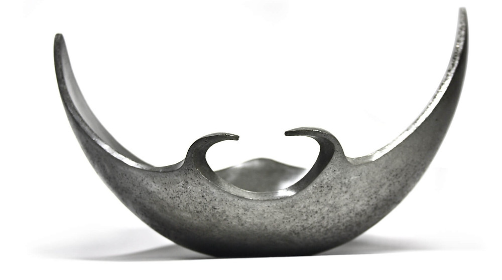 Wonderful concrete statue formed in a shape of a decorative cocnrete bowl