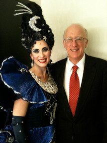 Opening night of Magic Flute at Seattle Opera - backstage with my Dad