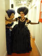 Backstage at English National Opera - goofing around with Suzy Tudor-Thomas