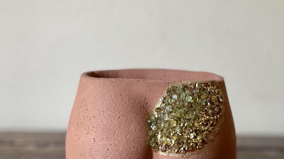 Mini Booty Geode Planter- Terracotta