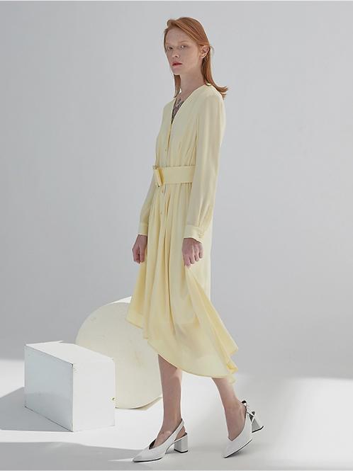 Canary Yellow Silk Dress