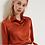 Thumbnail: Vibrant Orange Silk Blouse