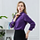 Thumbnail: Purple Long Sleeve Silk Blouse