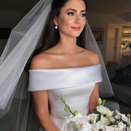 Robe de mariée en satin avec ceinture Sweetie