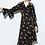 Thumbnail: Black and Vibrant Yellow Floral Silk Dress