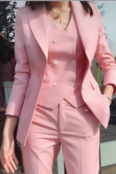 Miss Boss Pink Vest and Trouser