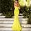 Thumbnail: Lemon Yellow Mermaid Satin Dress