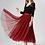 Thumbnail: تنورة تول حمراء متوسطة الطول بكشكشة