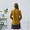 Thumbnail: Honey Yellow Contrast Button Silk Blouse