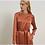Thumbnail: Tan Knee-Length Wrap Silk Dress