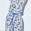 Thumbnail: Sky and Royal Blue Floral Print Jumpsuit