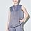 Thumbnail: Berry Blue Sleeveless Silk Blouse