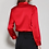 Thumbnail: Radiant Red Silk Blouse