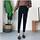 Thumbnail: Rich Black Straight Fit Ankle-Length Trouser
