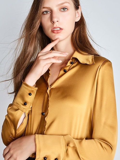 Golden Honey Silk Blouse