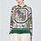 Thumbnail: Floral Multi-Colour Silk Blouse