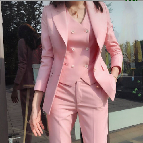 Miss Boss Pink Double Breasted Blazer
