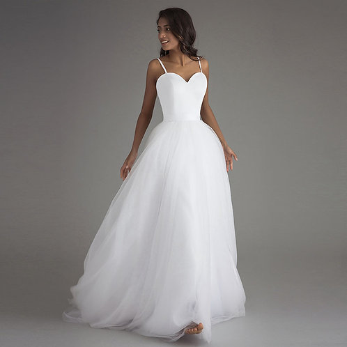 Simply Princess A-Line, Maxi Pleated Bridal Dress
