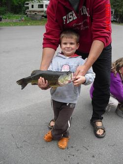 Large Mouth bass Fishtrap Lake