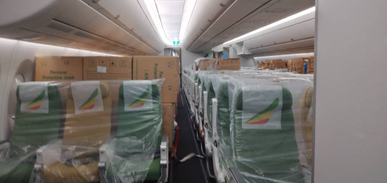 Dejere Dange Mulate in transit from Addis Ababa, Ethiopia to Frankfurt, Germany