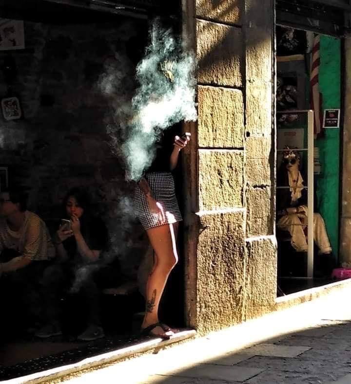 Elisa Carmona in Barcelona, Spain