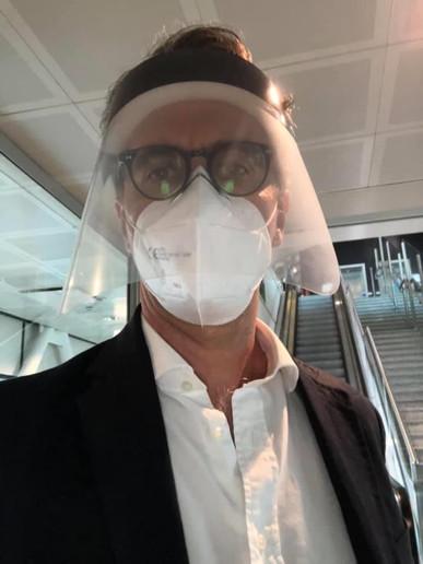 Giorgio Aliberti in transit from Italy to Vietnam