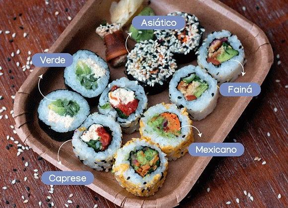 Tabla de sushi vegano mixta - 10 piezas