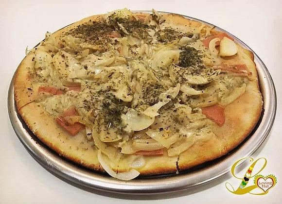 """Pizza de Fugazzeta con """"Jamon"""""""