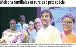 Maisons Familiales Rurales - Prix Spécial - Article de Juillet 2018