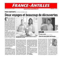 Deux voyages et beaucoup de découvertes - Article du 7 Juillet 2011