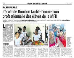 L'école de Bouillon facilite l'immersion professionnelle des élèves de la MFR - Article du 20 Juin 2