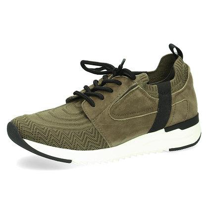 Baskets sneackers kaki cuir et textile 9-23700-27Caprice
