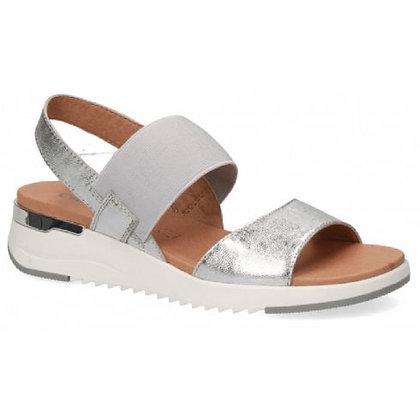 "sandales silver argent metalic ""Caprice"" 9-9-28701-26 920"