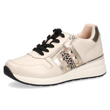 Basket Sneackers Cuir Beige 9-23725-26