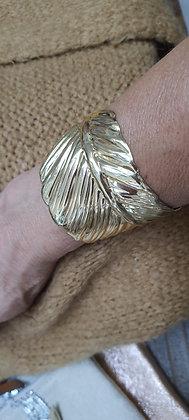 Bracelet Manchon feuille doré