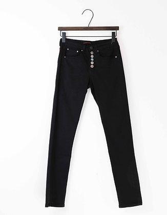 """Jeans slim taille haute boutons bijoux """"Place du Jour"""""""