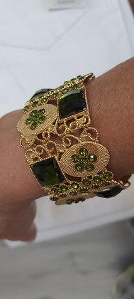 Bracelet Manchon baroque doré