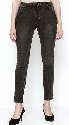Pantalon jean gris coupe Chino Place du Jour