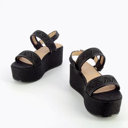 Sandales plateforme Vanessa Wu Noir