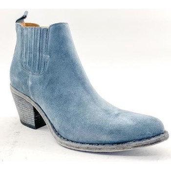 Boots style santiags bleu Semerdjian ER506