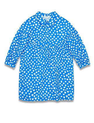 """Robe """"Romy"""" bleu électrique manches longues"""