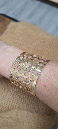 Bracelet Manchon doré ajouré