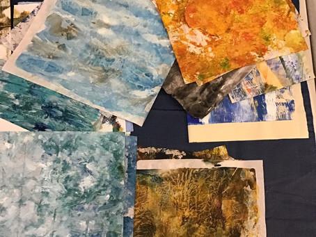 Preparing Collage Paper