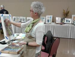 Shirley doing art demo