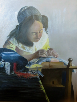 The Lace Maker (after Vermeer)